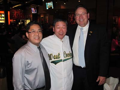 City Manager Christopher Chung, Mayor Tsukui,  and Mayor Herfert