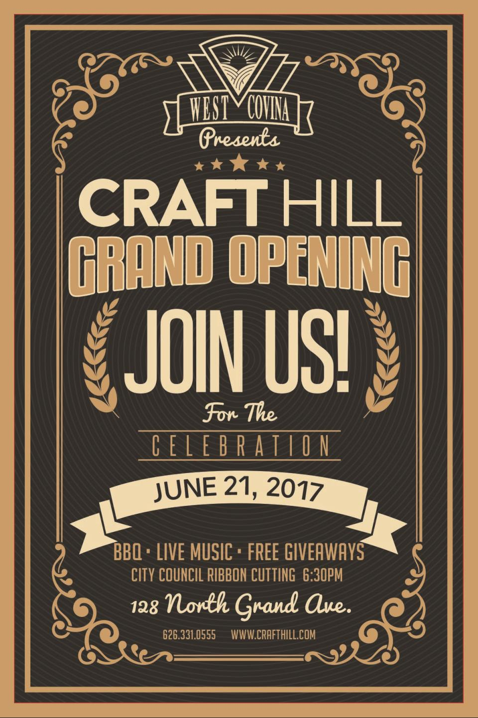 Craft Hill West Covina Invitation