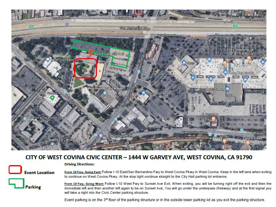 Event Map - Civic Center - Directions to venue