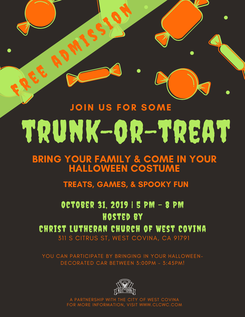 Trunk or Treat Event 2019